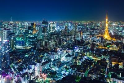 Obraz Tokio Skyline w nocy