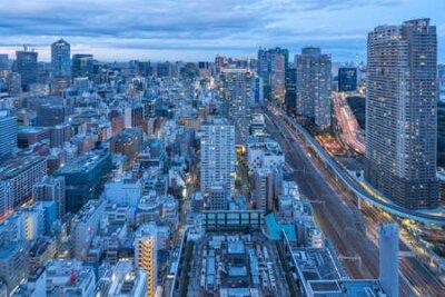 Obraz Tokyo cityscape skyline in Tokyo, Japan at night.