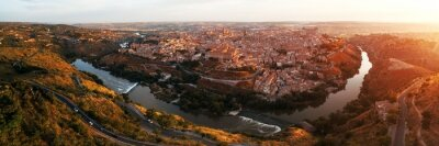 Toledo skyline panorama aerial view