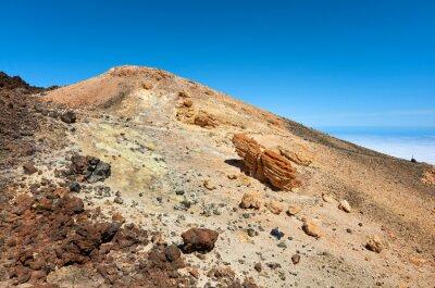 Top of the Mount Teide volcanic scenery, Tenerife, Spain.