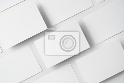 Obraz top view of business card isolated on white