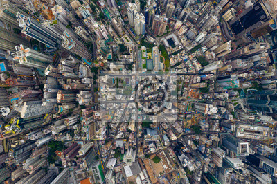 Obraz Top view of Hong Kong city