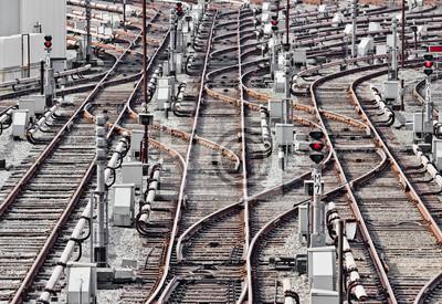Tory kolejowe w zajezdni metra, Kijowie