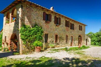 Obraz Toskania Dom na wsi w lecie, Włochy