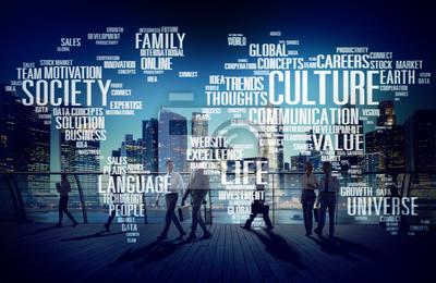 Obraz Towarzystwo Kultury Społeczność Ideologia Zasada Concept