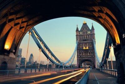 Obraz Tower Bridge rano ruchu