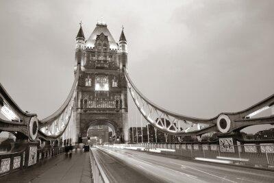 Obraz Tower Bridge w czerni i bieli