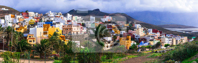 Traditional architecture of Grand Canary. Sardina del Norte town in north. Canary islands