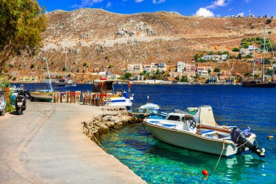 Traditional colorful Greece - picturesque Simi (Symi) island in Dodecanese
