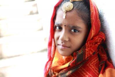 Obraz Traditional Indian Teenage Girl