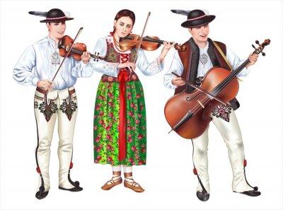 Obraz Traditional Polish Folk Band