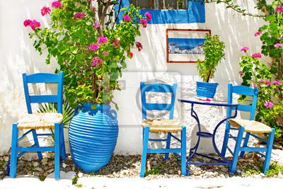 tradycyjne Grecja series - mała ulica tawern