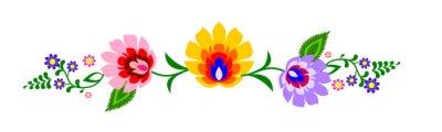 Obraz Tradycyjny polski folk wektor kwiatowy wzór