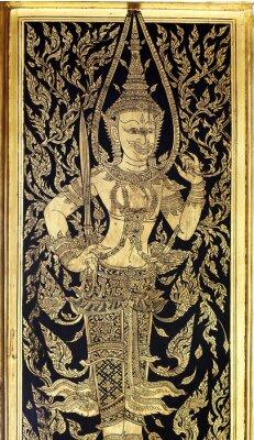 Obraz Tradycyjny tajski styl sztuka malowania