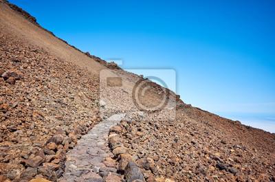 Trail to the Mount Teide summit, Tenerife, Spain.