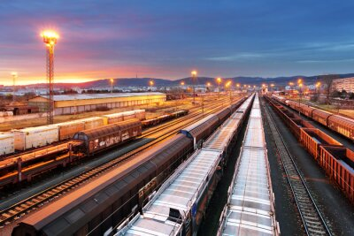 Obraz Train freight - Cargo railroad industry