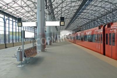 Obraz Train station Sheremetyevo, Moscom, Russia