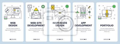Transparent koncepcja wektor nowoczesny cienka linia projekt www