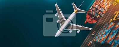 Obraz Transportation and logistics.