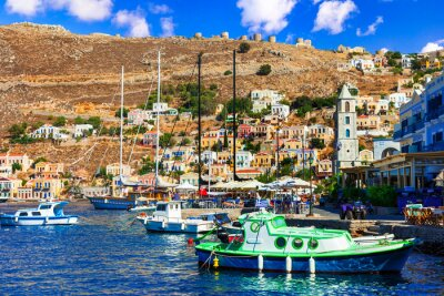 Travel in Greece - colorful island Simi (Symi) near Rhodes in Dodecanese