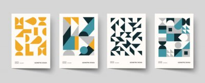 Obraz Trendy covers design. Minimal geometric shapes compositions. Applicable for brochures, posters, covers and banners.