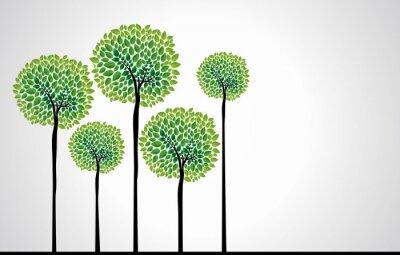 Obraz Trendy wektor drzewa koncepcja