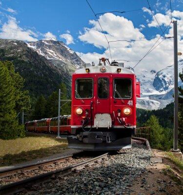 Obraz trenino rosso del Bernna