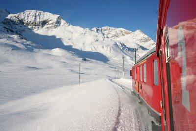Obraz treno Rosso del Bernina Alpi svizzere w inverno