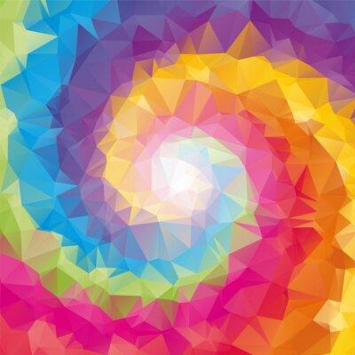 Obraz triangular tornado color background