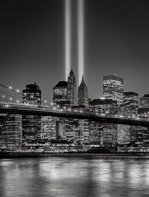 Obraz Tribute w świetle, 11 września Pamięci w Nowym Jorku