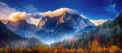 Obraz Triglav mountain peak at sunrise