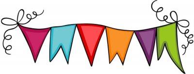 Obraz Trójkąt flaga transparent strony