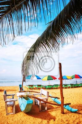 Tropical beach, summer vacation concept,  Sri Lanka