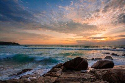 Tropical sunset at beach