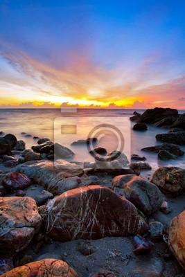 Tropikalna plaży w słońca.