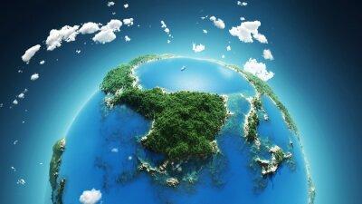 Obraz Tropikalny raj, widok z lotu ptaka