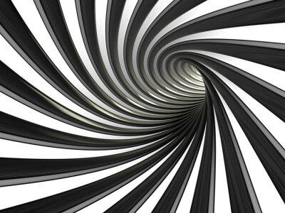 Obraz Tunel z czarnych i białych linii