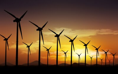 Obraz turbiny wiatrowe