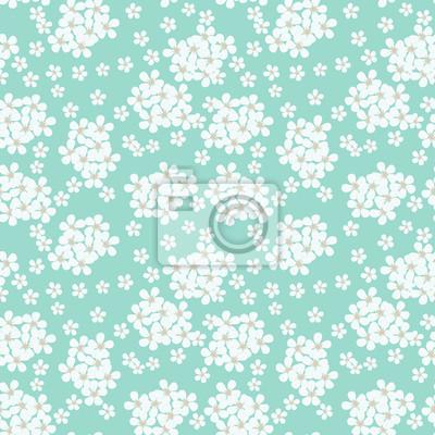 Turquoise tle delikatnych małych kwiatów