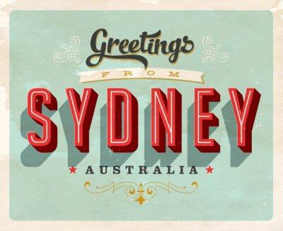 Obraz Turystyczny Vintage Greeting Card - Vector EPS10