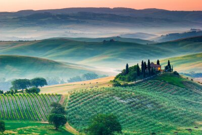 Obraz Tuscany, sunrise landscape