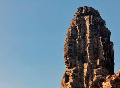 Twarze starożytnej świątyni Bayon w Angkor Wat