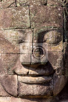 Twarze starożytnej Zamek Bajon Angkor Thom, Kambodża