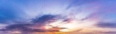 Obraz Twilight sky with sunshine and clouds