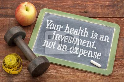 Obraz Twoje zdrowie jest inwestycją