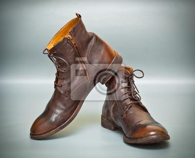 Twórczych moda męska buty skórzane brązowy kolor Obrazy Redro