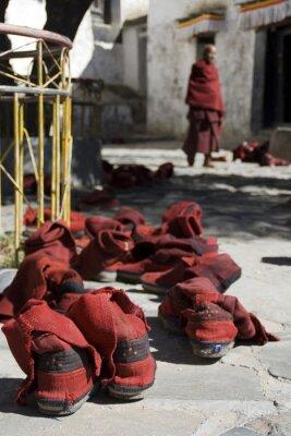 Obraz Tybetański mnich shoes