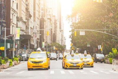 Obraz Typowe żółte taksówki w Nowym Jorku