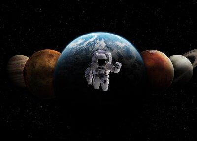 Obraz Układ Słoneczny. Elementy tego zdjęcia dostarczone przez NASA
