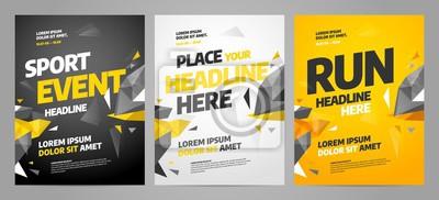 Obraz Układ szablonu projektu plakatu na wydarzenie sportowe, turniej lub mistrzostwo.